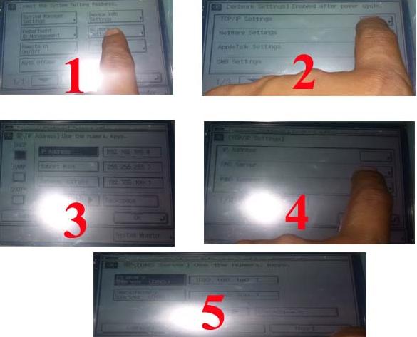 Setting Connect Mesin Fotocopy ke Windows Via Kabel LAN
